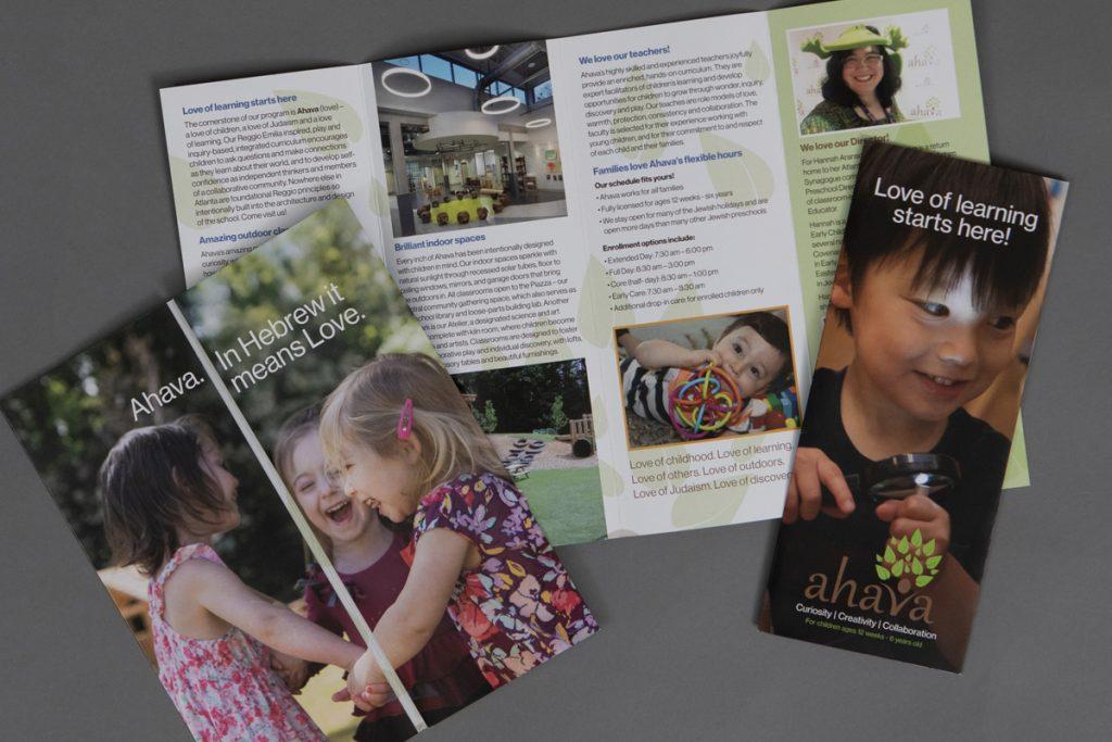Ahava Brochure Design