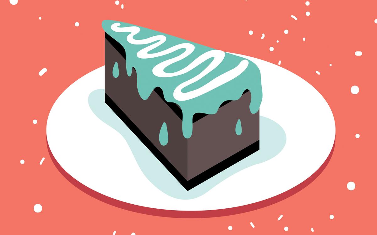Slice of cake image
